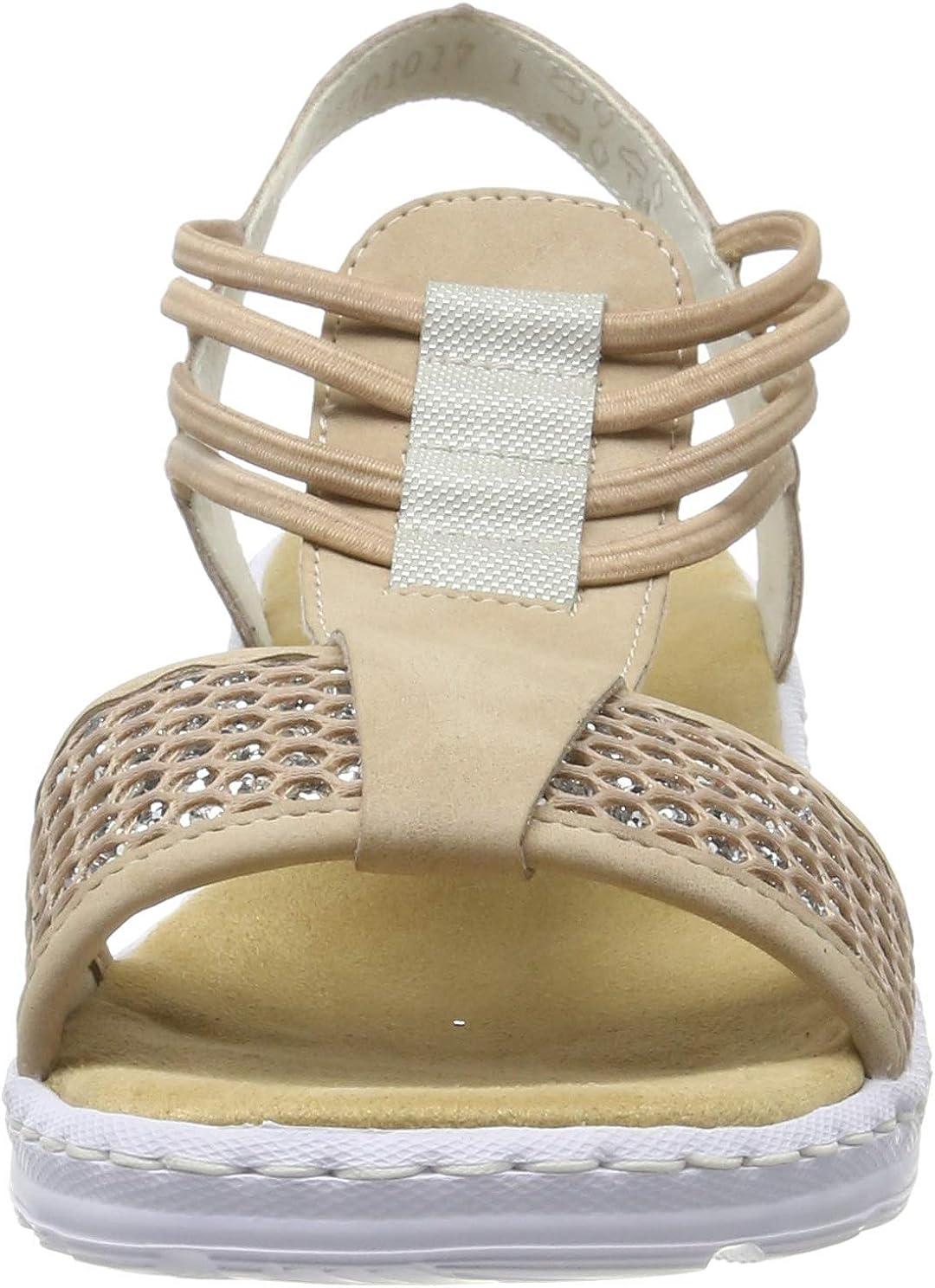 Rieker Damen Sandale rosa V18L6 31