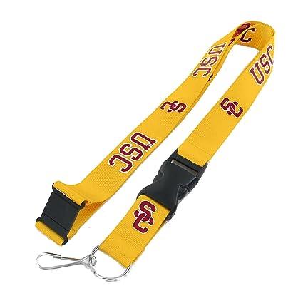 Amazon.com: USC Trojans Clip cordón llavero Id Ticket – oro ...