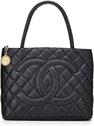 5c864a4af CHANEL Black Quilted Caviar Medallion Tote (Pre-Owned)