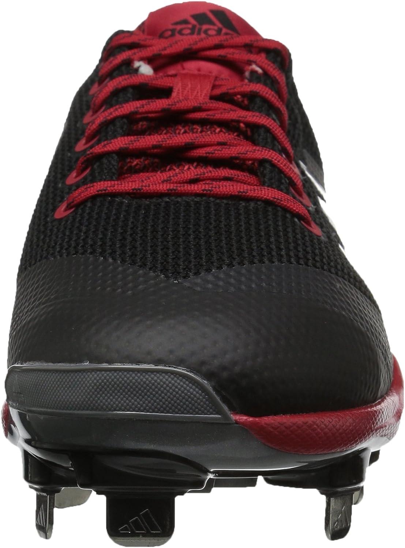 adidas Freak X Carbon Mid, Zapato para fútbol Americano para Hombre Negro Plateado Metálico Rojo