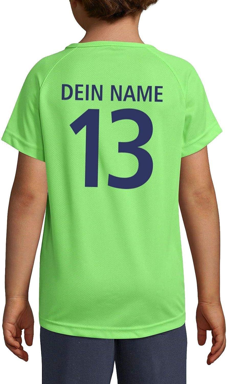 Roughtex Kinder Deutschland Trikot T-Shirt personalisierbar eigener Name und Nummer Funktions-Shirt atmungsaktiv
