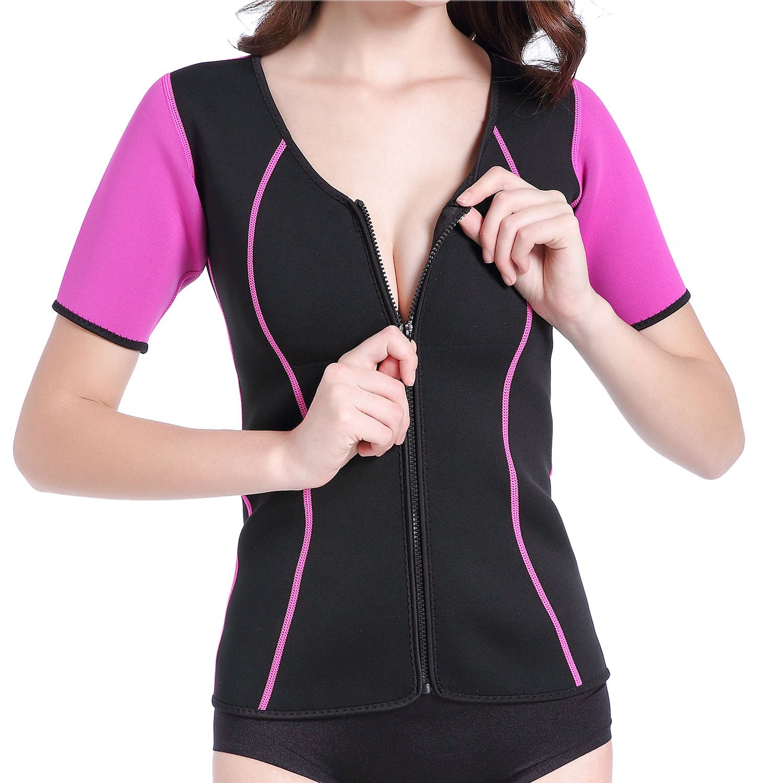 Sweat Tops Weight Loss Shaper Fat Burner Thermo Neoprene Sauna Suit Zipper Tank Top SLTY Y7706-CN-FE2