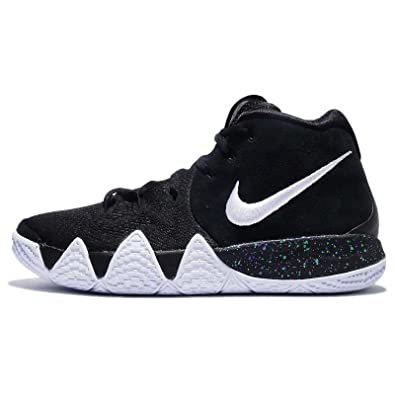 NIKE Kid's Kyrie 4 GS, Black/White, Youth Size 5