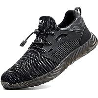 Zapatos de Seguridad para Hombre Transpirable Ligeras con Puntera de Acero Zapatillas de Seguridad Trabajo, Calzado de…