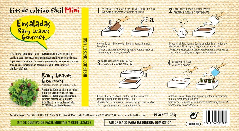 Huerto Urbano - Seed Box Mini Ensaladas - Batlle: Amazon.es: Jardín