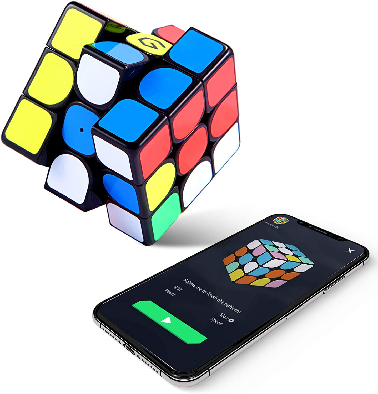 AI Intelligent Speed Cube App Bluetooth Control Professional Magic Cube Magic Magnetic Electronic Cube Puzzle Toys Suitable for All Ages and Capabilities