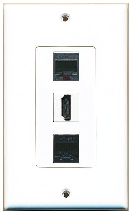 amazon com riteav 1 port hdmi 1 phone rj11 rj12 black 1 cat5e rh amazon com