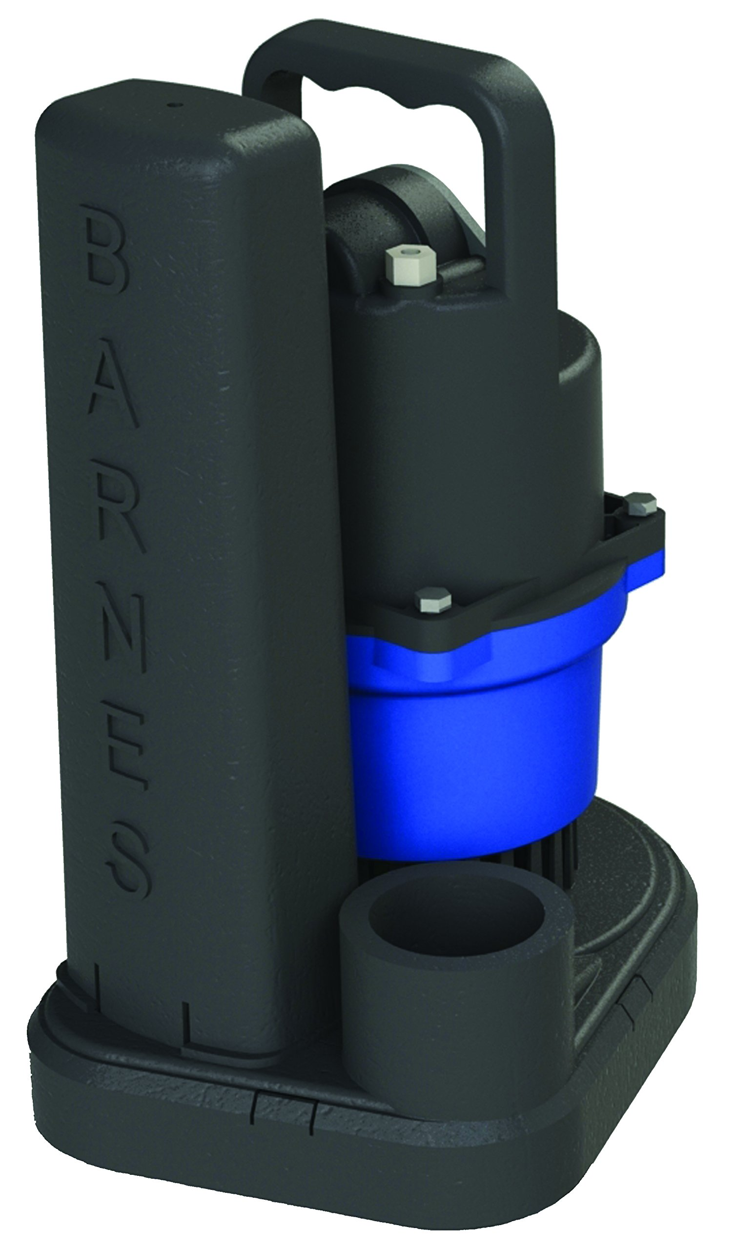 Barnes SU33 Submersible Cast Iron Sump Pump - 1/3-HP, 2,700 GPH, 9' Cord, Magnetic Float Switch, for Residential Use