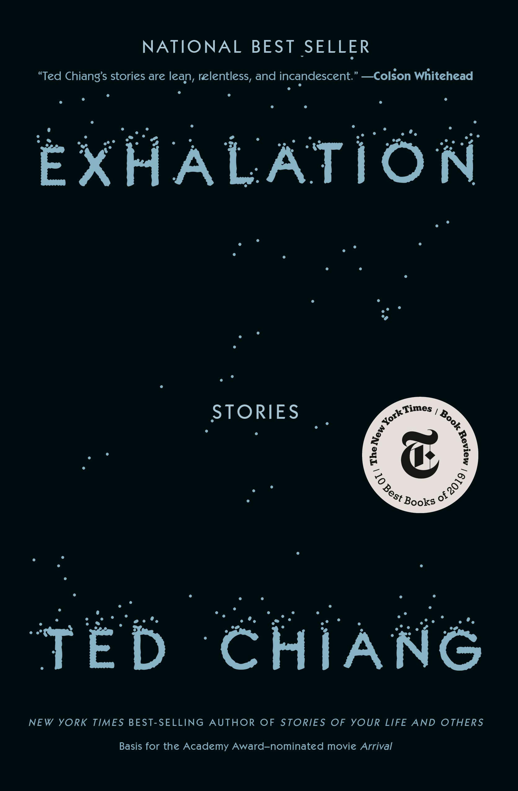 """Book cover of """"Exhalation"""" by Ted Chiang."""