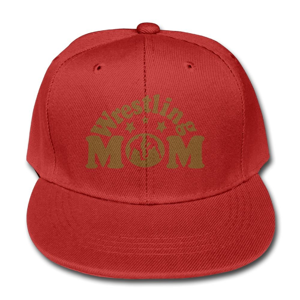 Wrestling Mom 1 Unisex Snapback Baseball Hats Trucker Solid Color Cap