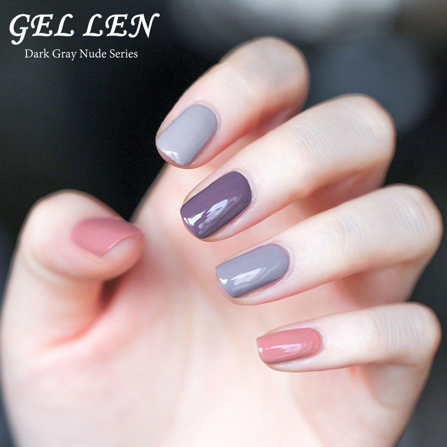 Amazon.com : Gellen 6 Colors Gel Polish Set - Grace Grays Colors ...