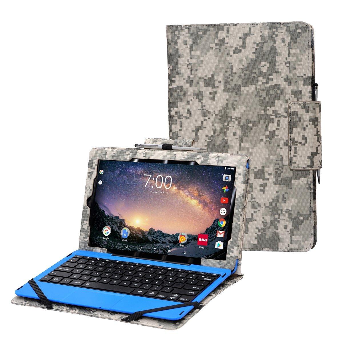RCA Galileo Pro 11.5 case by i-UniK for RCA Galileo Pro 11.5' Model#RCT6513W87DK C Tablet with Keyboard Case [Bonus Stylus] (Purple)