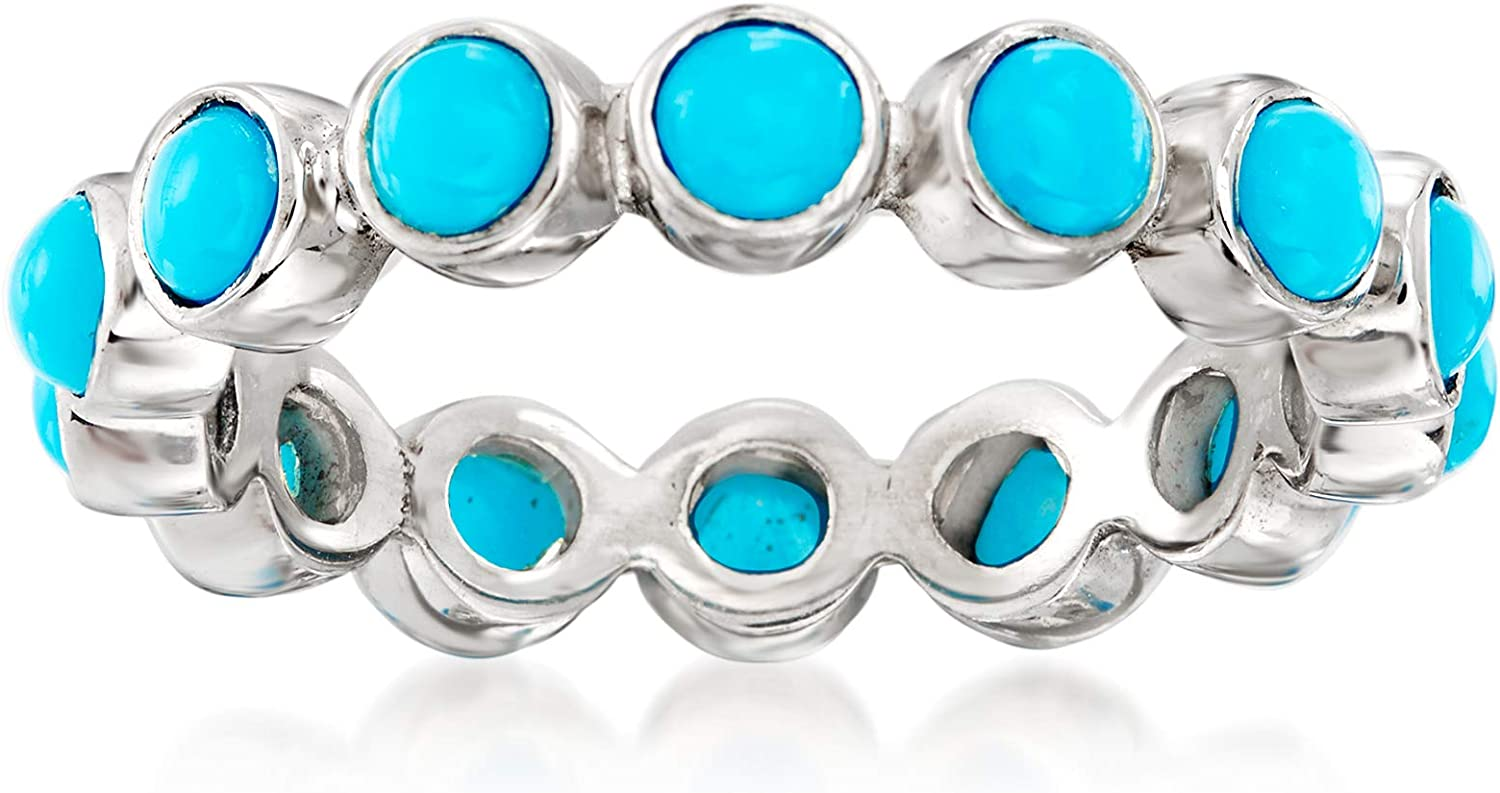 Ross-Simons Turquoise Eternity Band in Sterling Silver