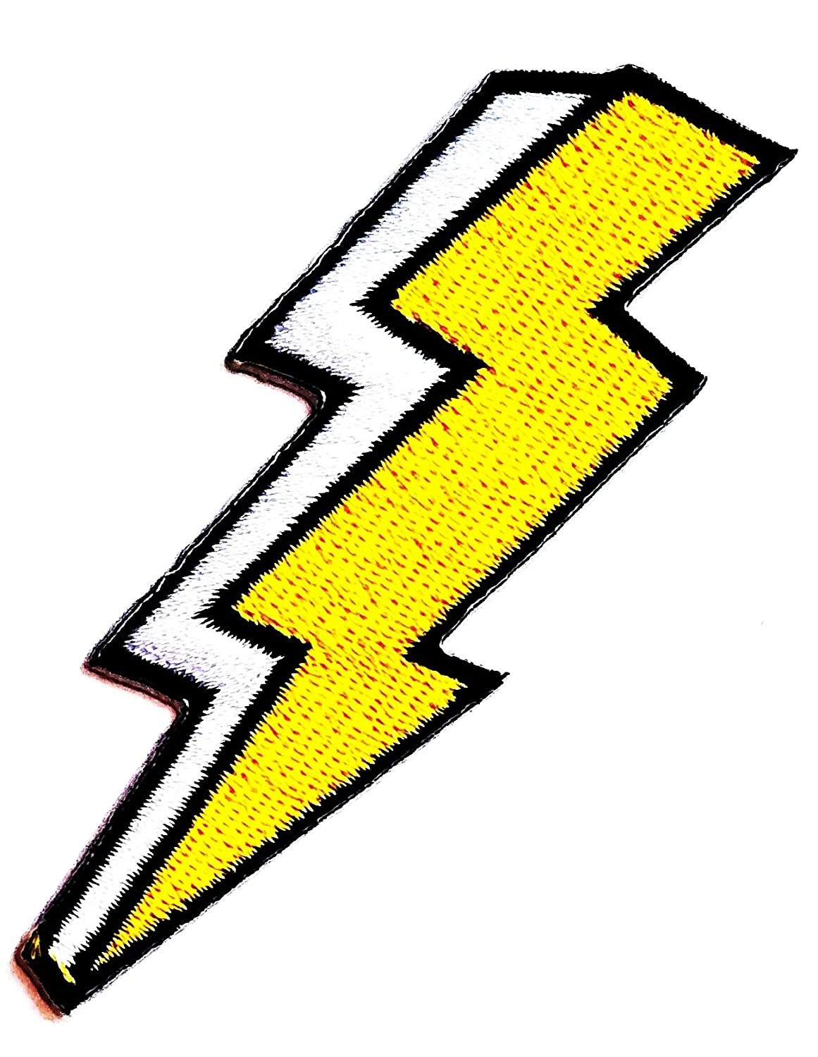 Nipitshop Patches Yellow Flash Storm Lighting Thunderbolt Cartoon Kids Patch Embroidered Iron On Patch for Clothes Backpacks T-Shirt Jeans Skirt Vests Scarf Hat Bag