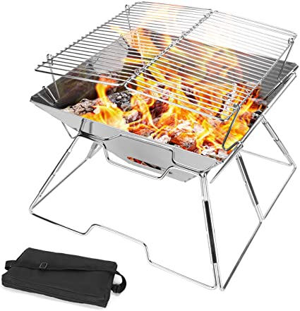 Outdoor Stainless Steel Gas Stove Burner Picnic Camp Backpacking Case Hiking BBQ