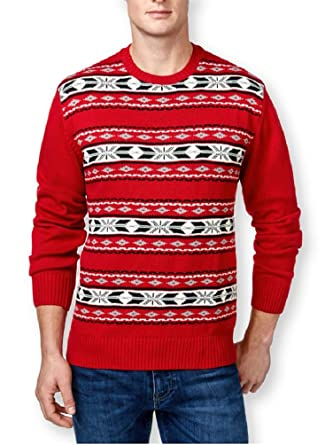 Weatherproof Vintage Men's Fair Isle Long Sleeves Pullover Sweater ...