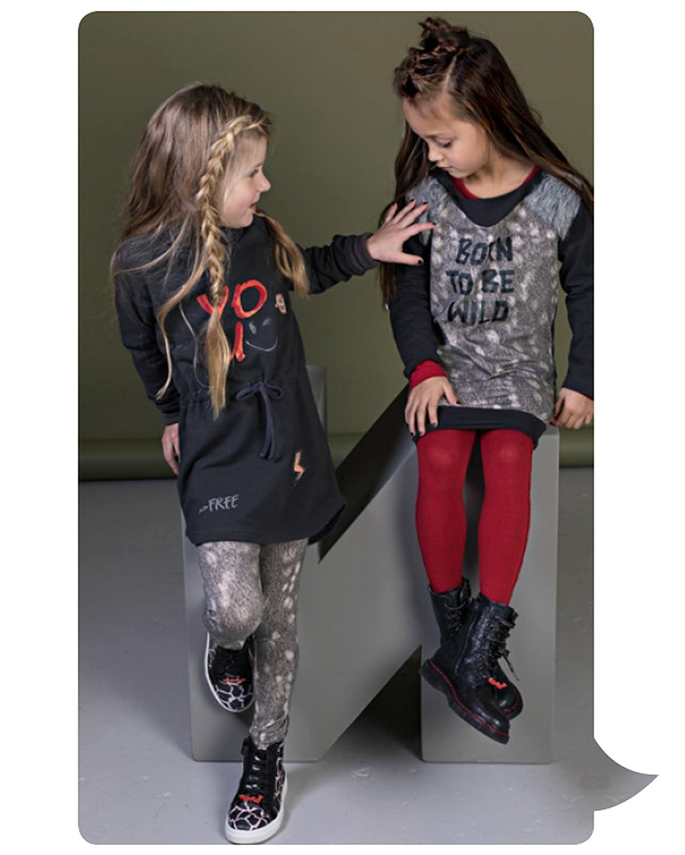 Sizes 4-14 no!no Nono Girls Leggings in Fur Print