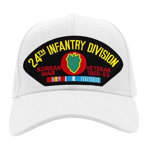 19f02ede71e Patchtown 24th Infantry Division - Korea Hat Ballcap Adjustable One Size  Fits Most (Black