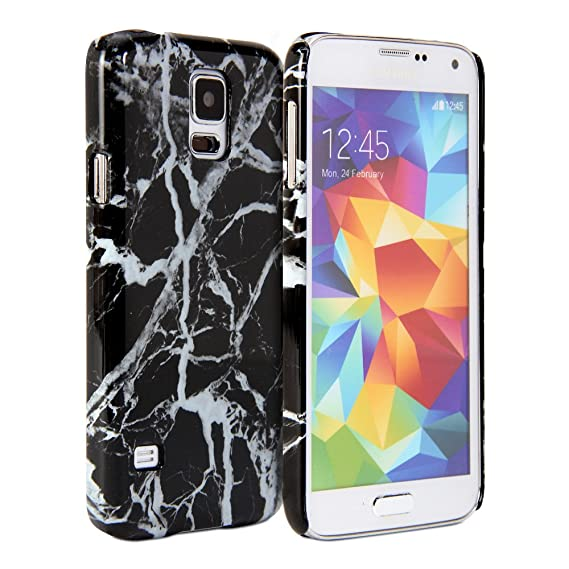 info for 47c11 a4c91 Galaxy S5 Case, GMYLE Snap Cover Glossy Marble Pattern for Galaxy S5 -  Black Marble Pattern Slim Fit Snap On Protective Hard Shell Back Case