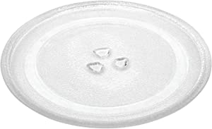 """12.5"""" Microwave Glass Plate, Microwave Glass Turntable Plate Replacement with Heat Resistant Glove For Large Microwaves"""