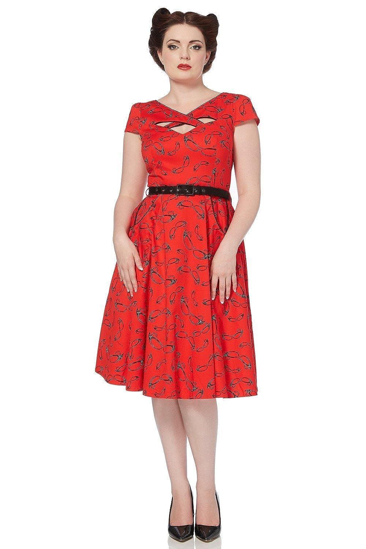 Rockabilly Dresses | Rockabilly Clothing | Viva Las Vegas Voodoo Vixen 50s Rockabilly Tattoo Vintage Swing Connie Dress $86.70 AT vintagedancer.com