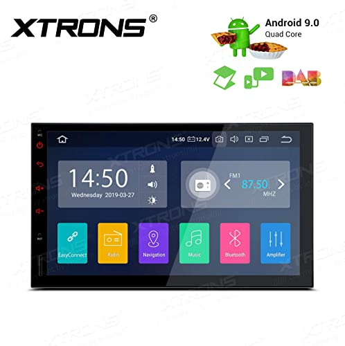 XTRONS Android 9.0 Car Stereo Radio GPS Navigator Universal 7 Inch Touch Display Double Din Head Unit Supports Car Auto Play Bluetooth 5.0 WiFi Backup Camera DVR OBD TPMS Full RCA Output
