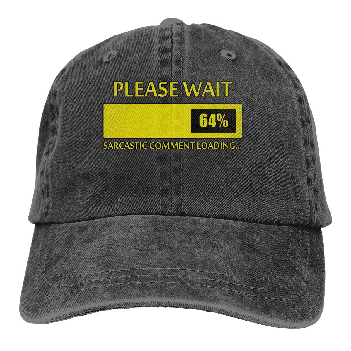 Men Women Please Wait Sarcastic Comment Loading Vintage Washed Dad Hat Popular Adjustable Baseball Cap