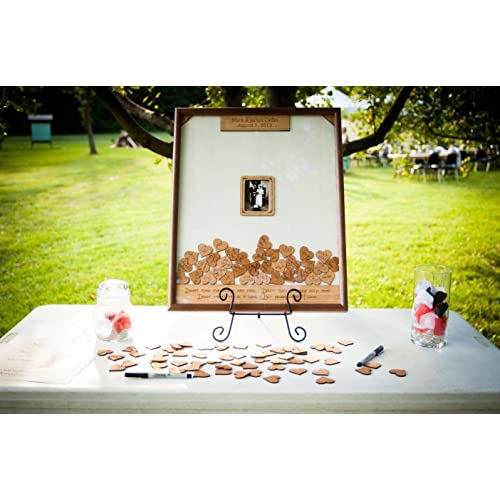 11x14 Wedding Guest Book Alternative Drop Box Guest Book Frame Personalized Guest Book Drop Hearts Picture Frame