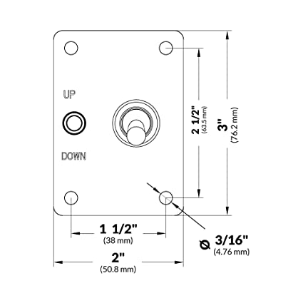 Down Toggle Switch Panel
