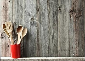YongFoto Fondo de Madera para Utensilios de Cocina 2,2x1,5 m ...