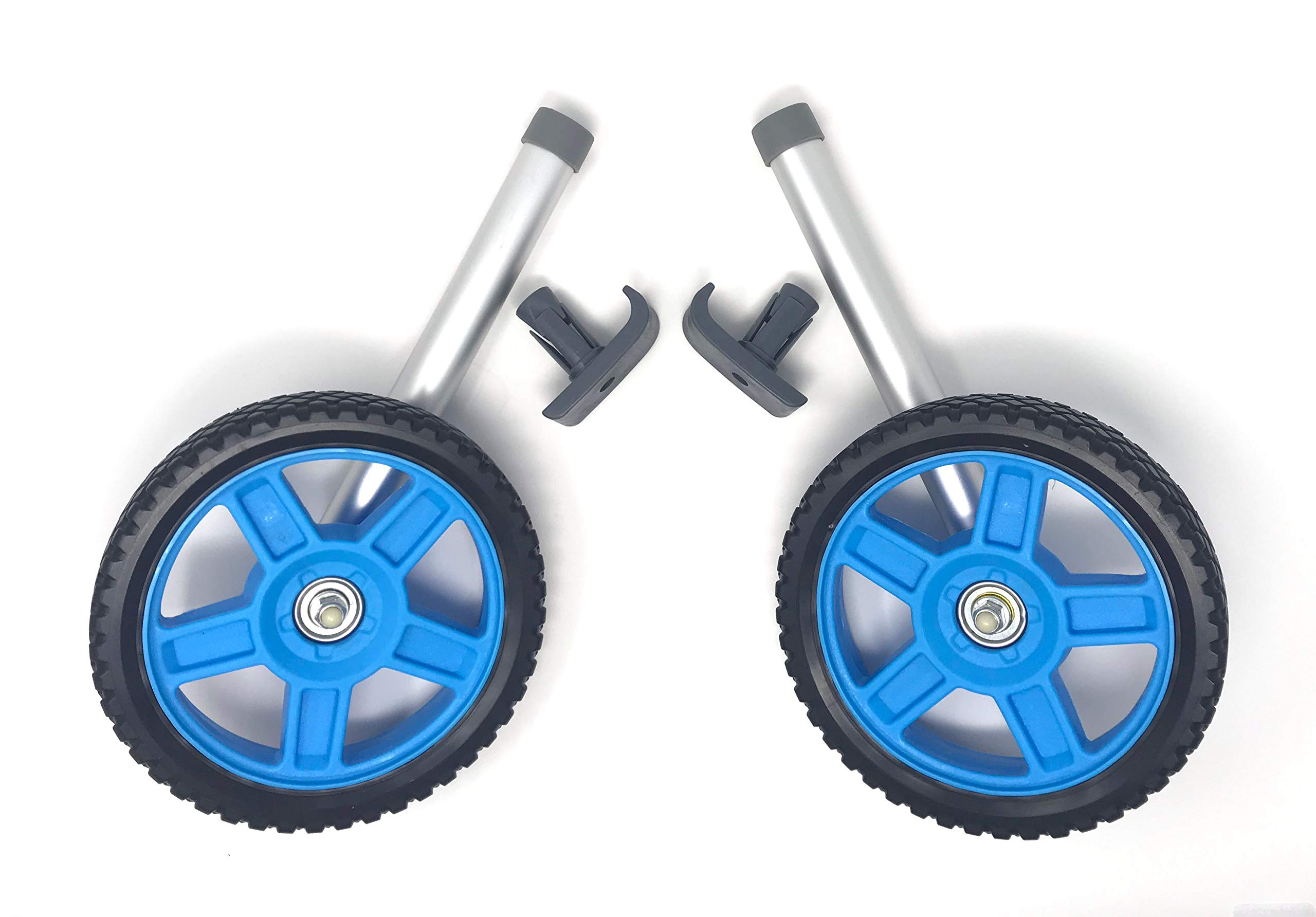 Top Glides 8'' Off-Road Walker Wheel Kits with Free Flexfit Universal Ski Glides (Blue) by Top Glides