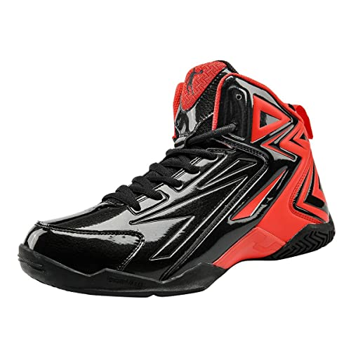fd0a16cbf2c6 Qiaodan Men s Hi Top Outdoor Basketball Shoes Black Red XM3560118   Amazon.ca  Shoes   Handbags