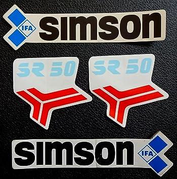 Generic Original Ddr 4 Teiliger Simson Sr 50 Aufklebersatz Aufkleber Ungebraucht