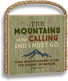 product image for Imagine Design Mountains are Calling Great Outdoors Plaque