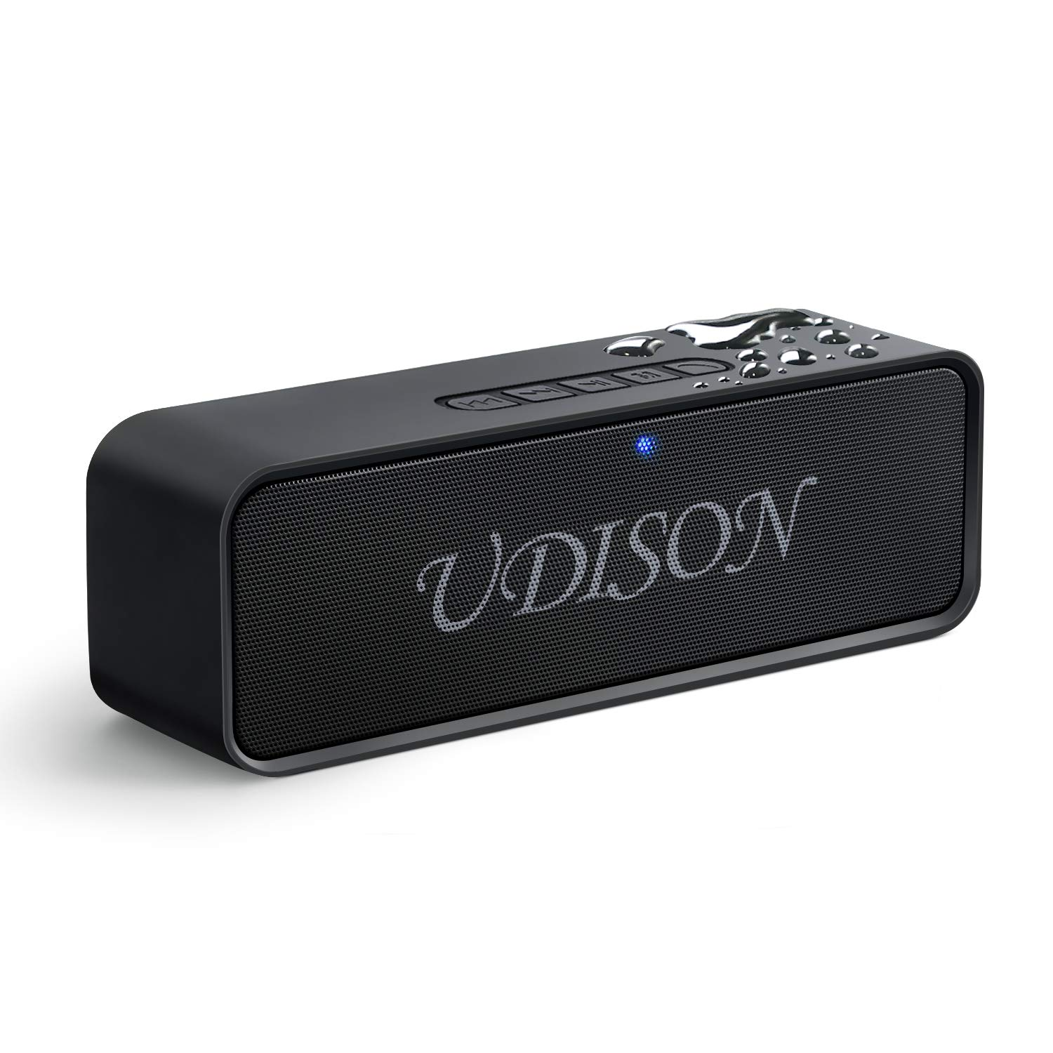 bd732085d3b226 UDISON Portable Bluetooth Speaker, Wireless Louder Speakers V4.2 with Stereo  Sound and Bass, Built-in Mic, Handsfree, 12 Hour Playtime, IP65 Waterproof,  ...