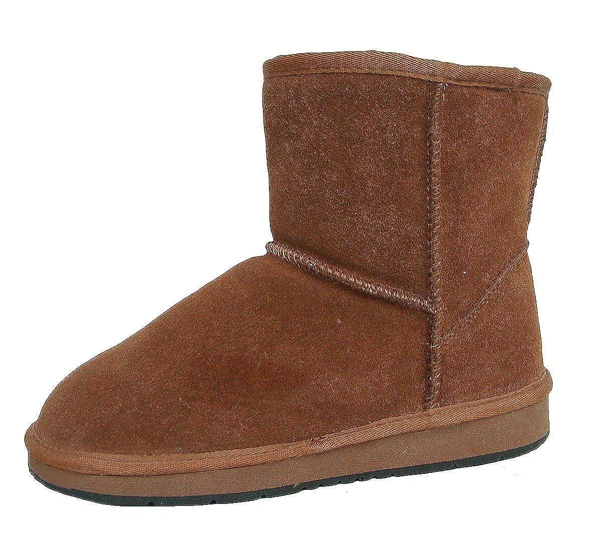 Heitmann Felle Damen Lammfell Leder Trendige Winter Stiefel Camel warme Laufsohle Trendige Leder Profilsohle Lammfell Futter Gr. 36 4493bf