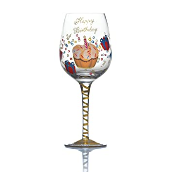 Celebrations By Mikasa Birthday Wishes 15 Ounce Wine Glass Amazonin Home Kitchen