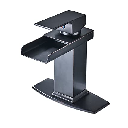 LH-Bathroom faucet:Bathroom Sink Faucet Waterfall Oil-Rubbed Bronze Widespread One Hole Single Handle One Hole,1 Janitorial & Sanitation Supplies