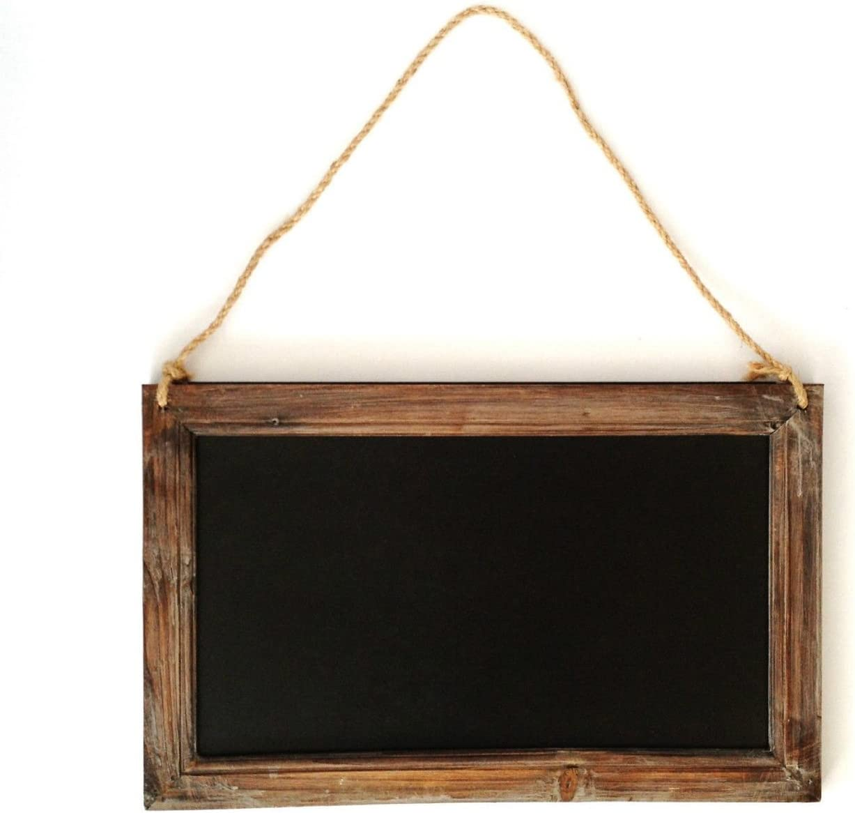 Vintage Wooden Hanging Mini Blackboard Signs Kitchen Message Memo Chalk Board