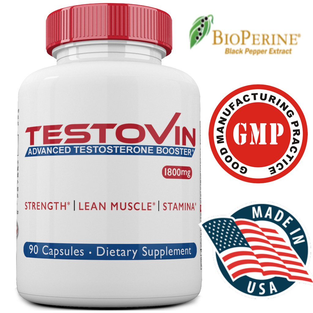 TESTOVIN- Best Testosterone Booster for Men- Natural Metabolism Male Enhancer- Optimal Endurance, Muscle, Strength, Stamina-Improve Recovery, Sleep, Mood & Sex Drive-Healthy Weight Loss-Fat Burner