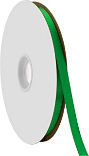 "product image for Berwick Offray 3/8"" Single Face Satin Ribbon, Emerald Green, 100 Yds"