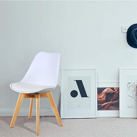Amazon.com: gotminsi Juego de 2 silla estilo Eames sillas de ...