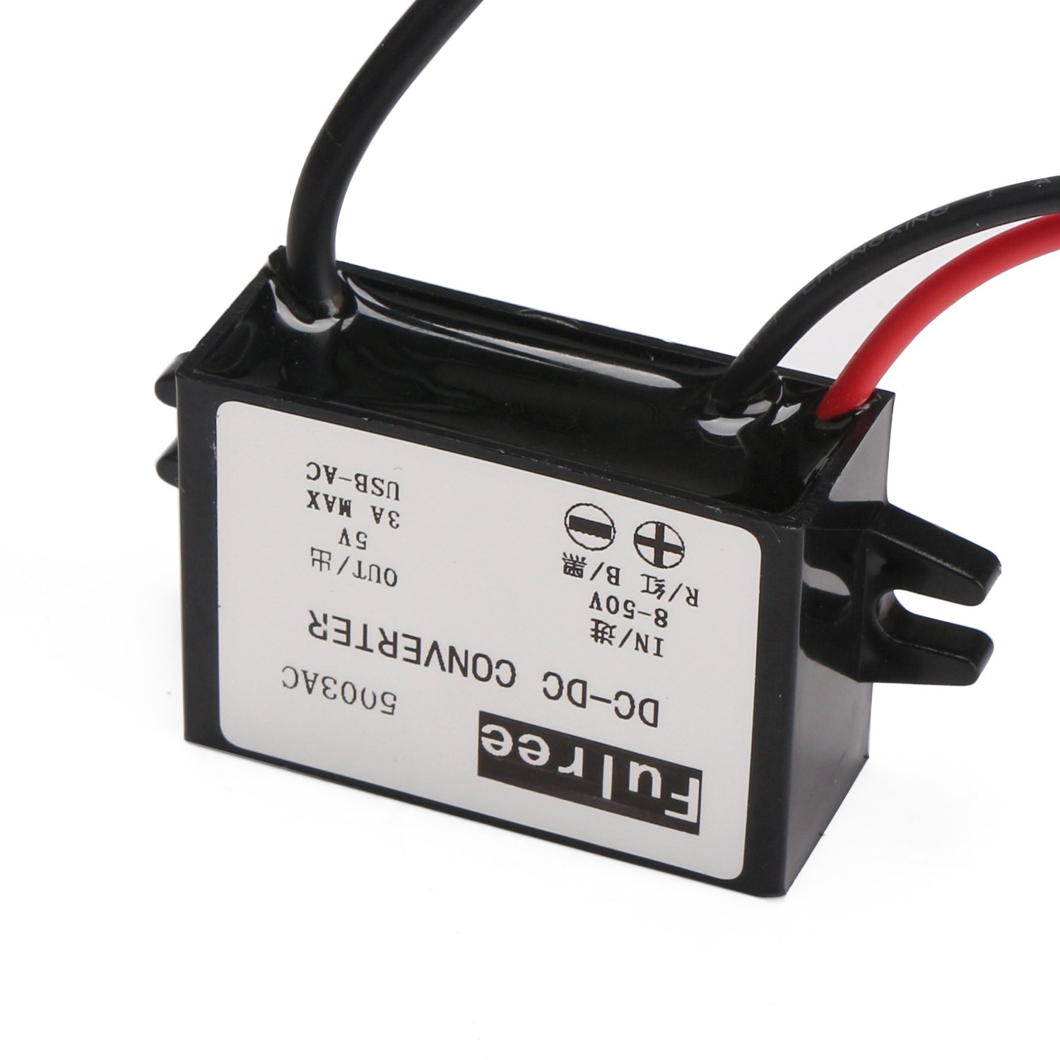 DC-DC Buck Converter 3A Volatge Adapter Power Supply Module Step Down Voltage Regulator 12V//24V//36V to 5V Voltage Transformer with USB+Micro USB MP3 MP4 Car Displayer GPS