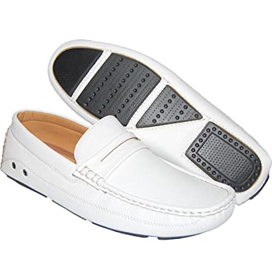 f471eabb0c3d1 KRAZY SHOE ARTISTS Shoe Artists Classic White Penny Loafer - Men (15D US)
