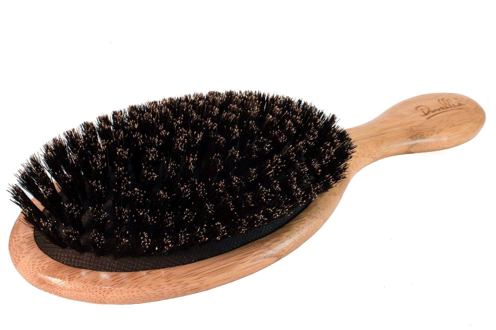 Boar Bristle Hair Brush Set for Women and Men - Designed for Thin and Normal Hair - Adds Shine and Improves Hair Texture - Wood Comb and Gift Bag Included (black) by Dovahlia (Image #3)