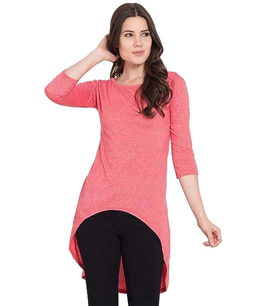 new products attractive colour biggest discount American-Elm Tshirt Dress for Women Cotton Designer Orange Top Tshirt