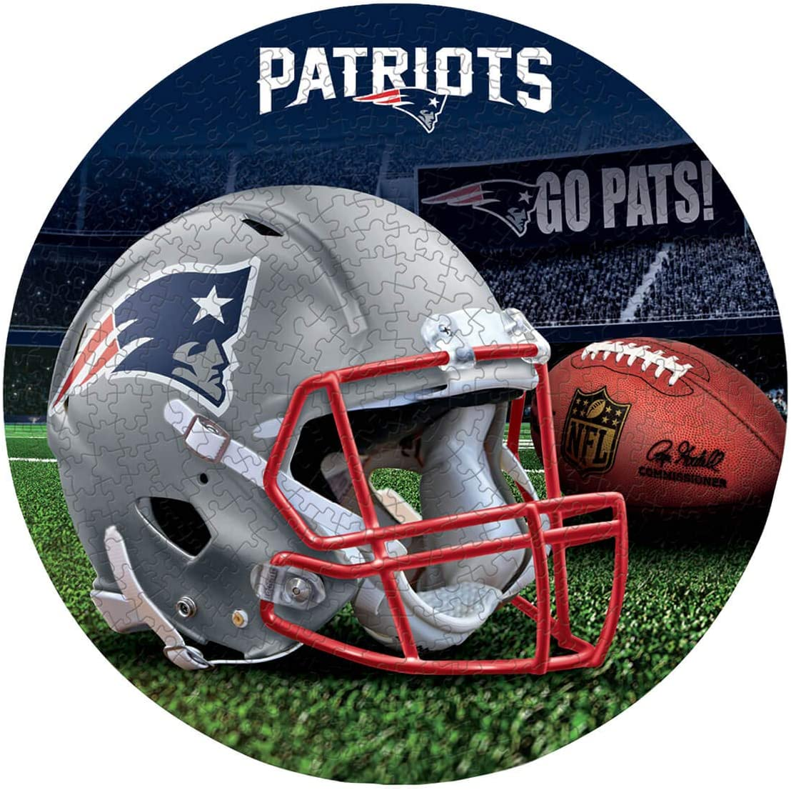 WinCraft New England Patriots NFL 500-Piece Puzzle in Box …