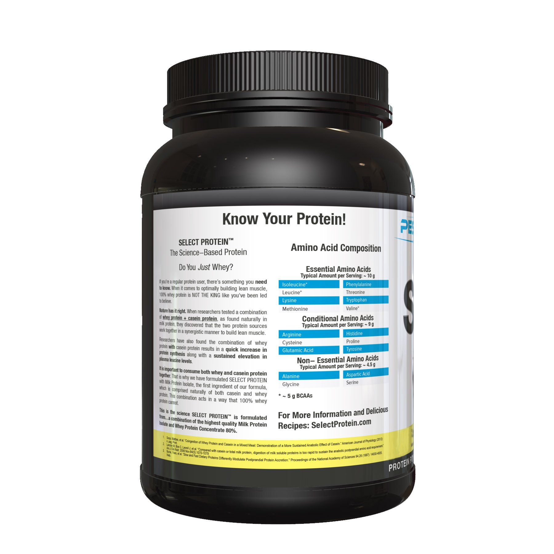 PEScience Select Protein Powder, Gourmet Vanilla, 27 Serving, Whey and Casein Blend by PEScience