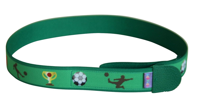 Ed& Kids Kindergürtel ohne Schnalle Fußball grün Gürtel Jungen elastisch größenverstellbar Made in Germany