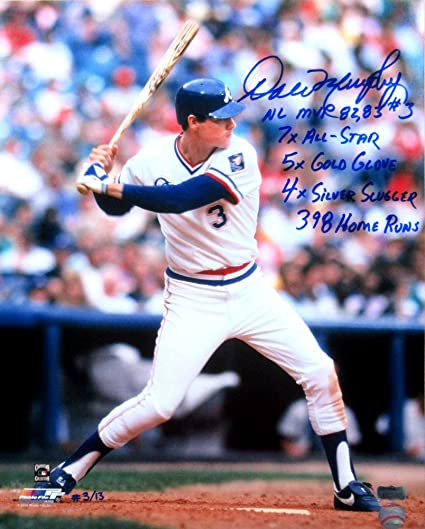 bd026ca6512 Dale Murphy Autographed Signed Atlanta Braves Throwback Chief Nocahoma  Jersey 16x20 MLB Licensed Photo with Career Stats Inscription LE  3 of 13  at Amazon s ...